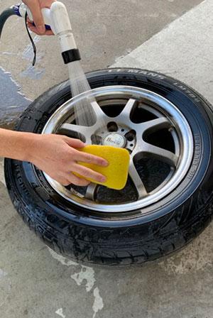 タイヤ、ホイール洗浄